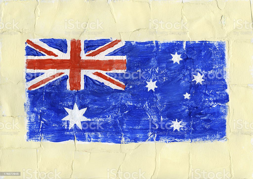 Painted flag royalty-free stock photo