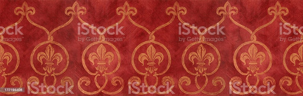 Painted Fleur De Lys Border royalty-free stock photo