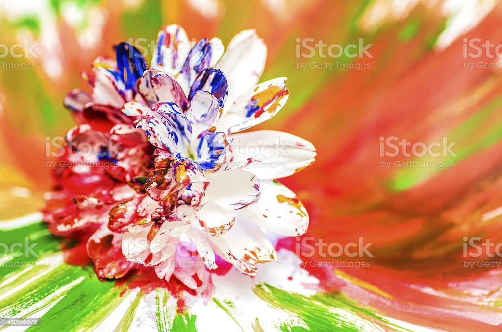 Painted Flower royalty-free stock photo