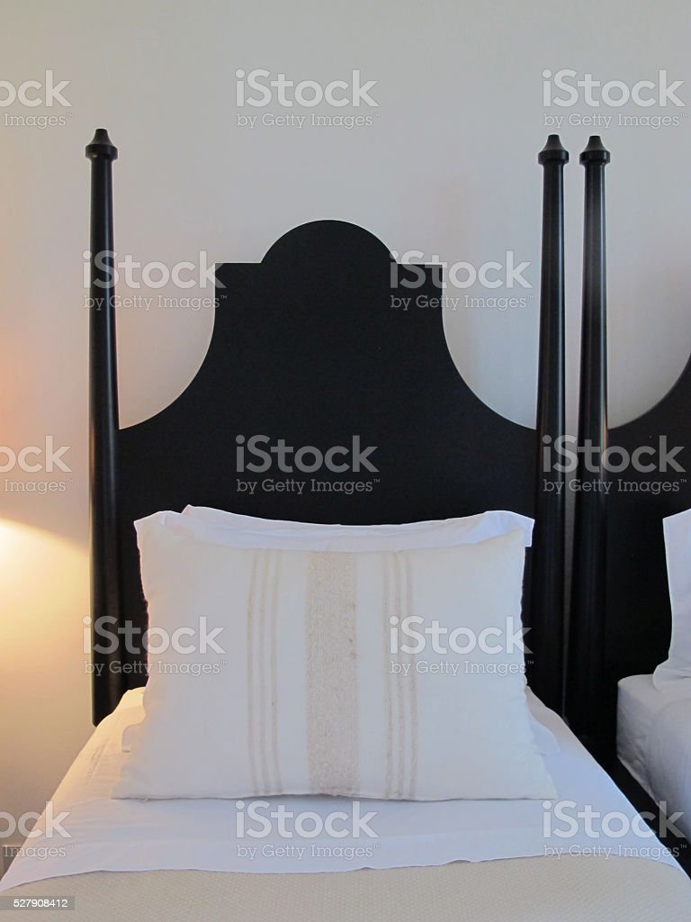 Painted four poster bed in estancia stock photo