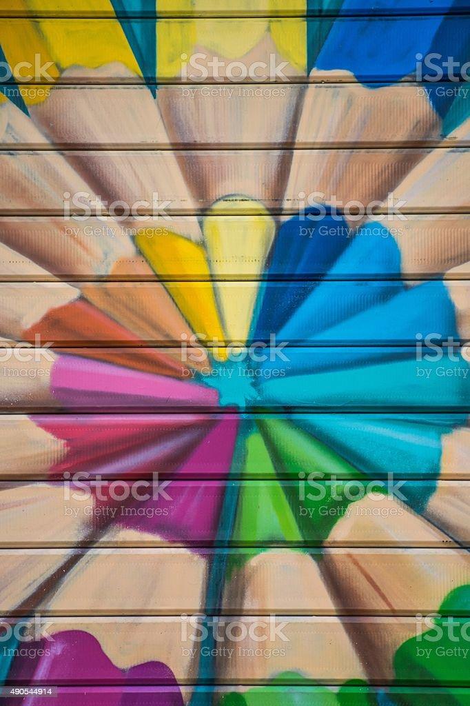 Saracinesca dipinta stock photo
