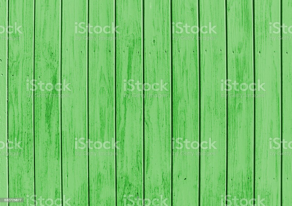 Painted green wood stock photo