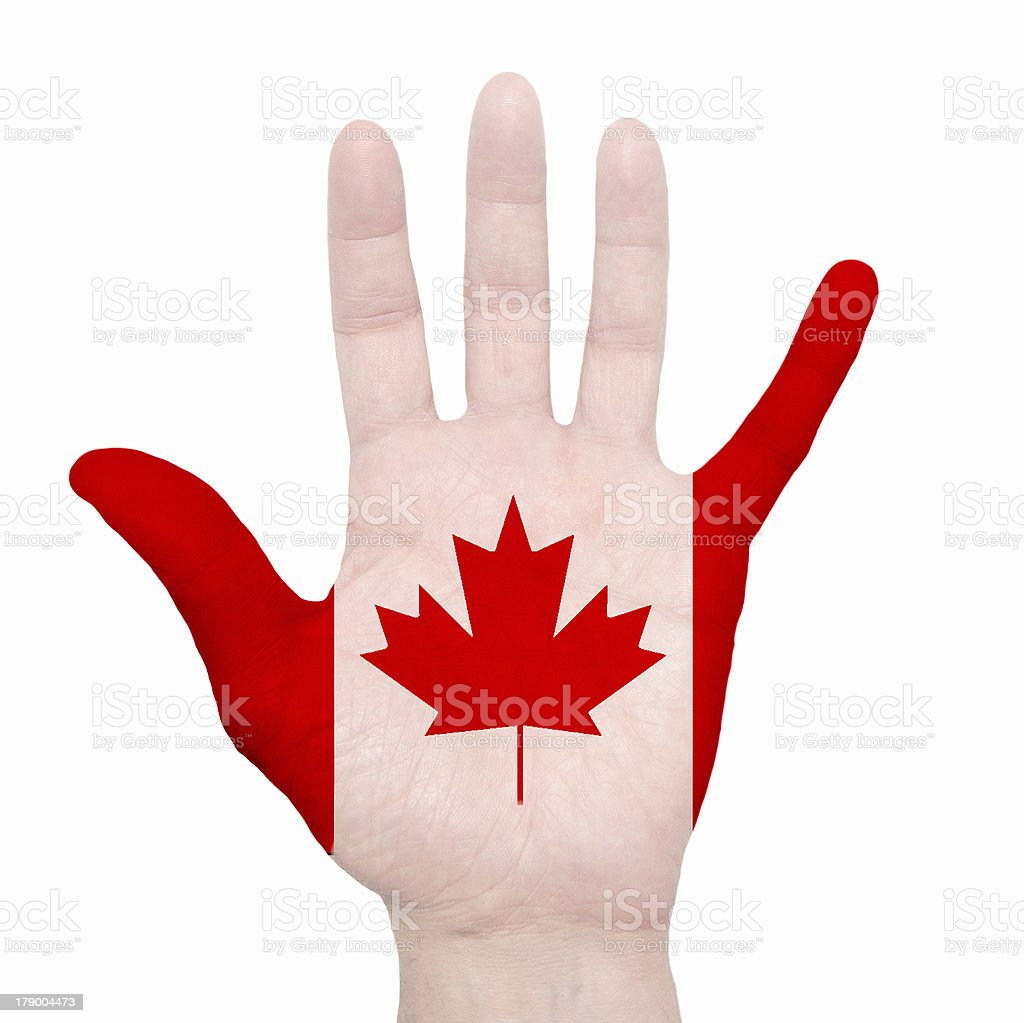 Painted hand royalty-free stock photo