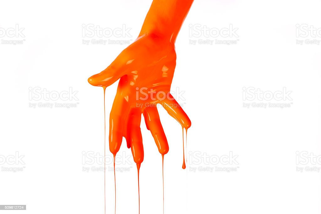 Painted Hand. stock photo