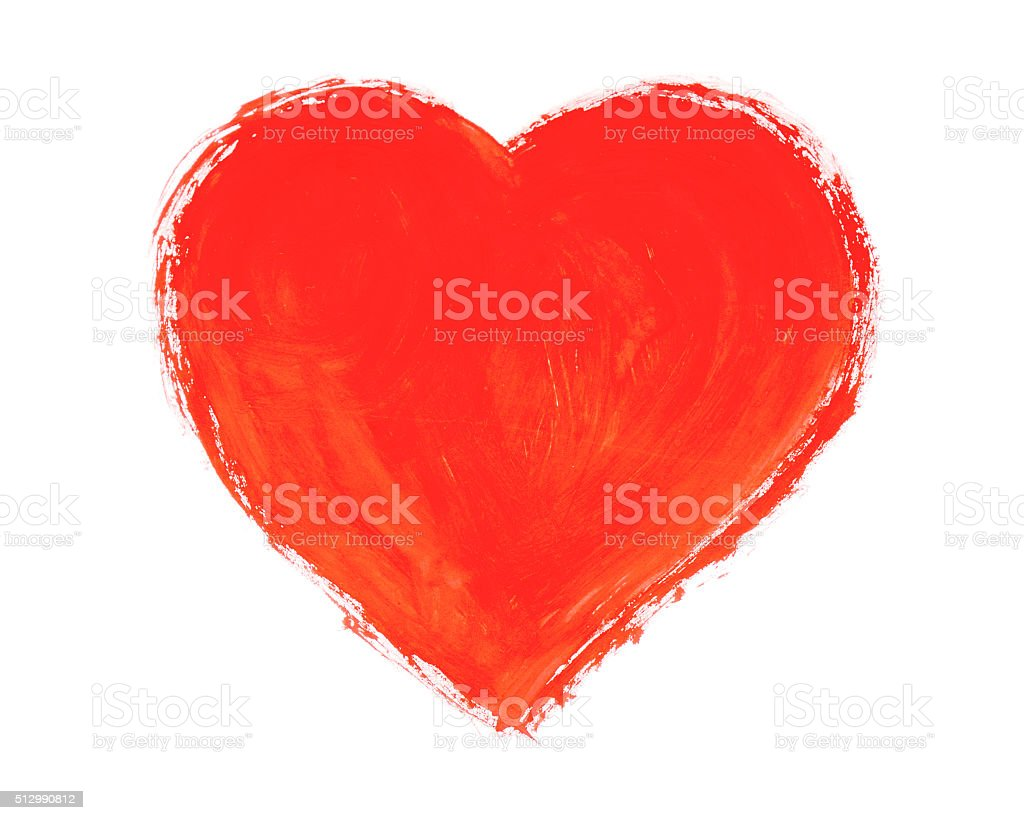 Painted heart. stock photo