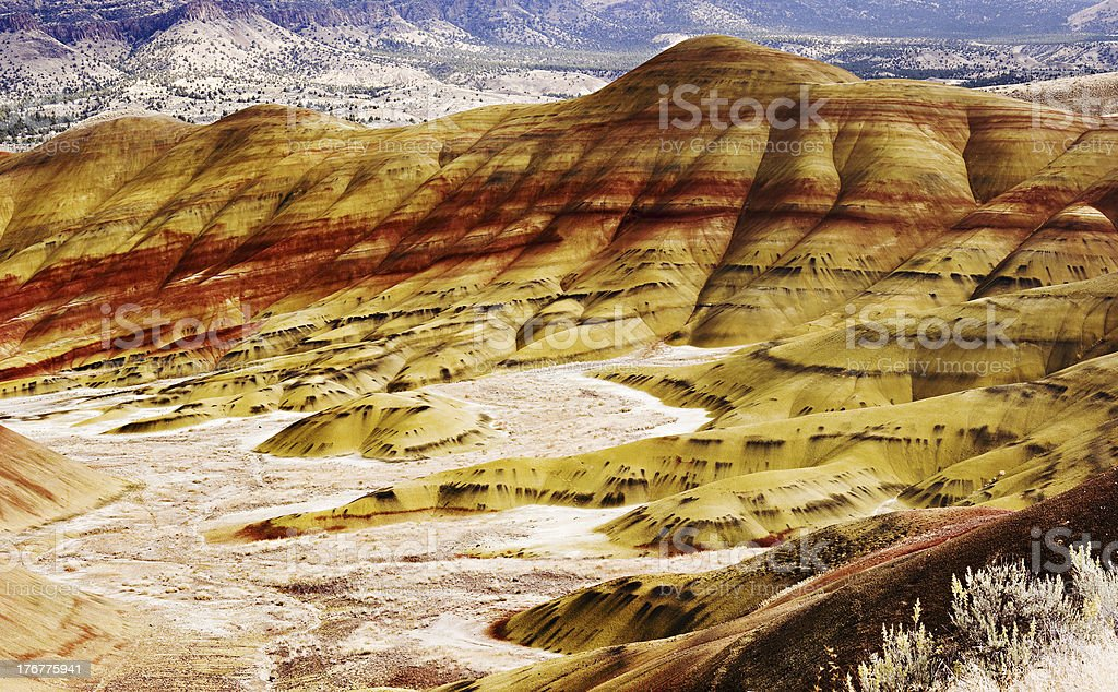 Painted Hills 4 royalty-free stock photo