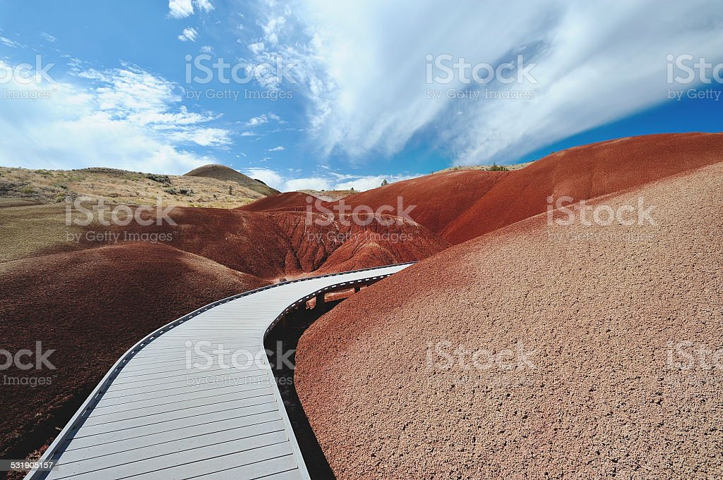 Painted Hills Boardwalk stock photo