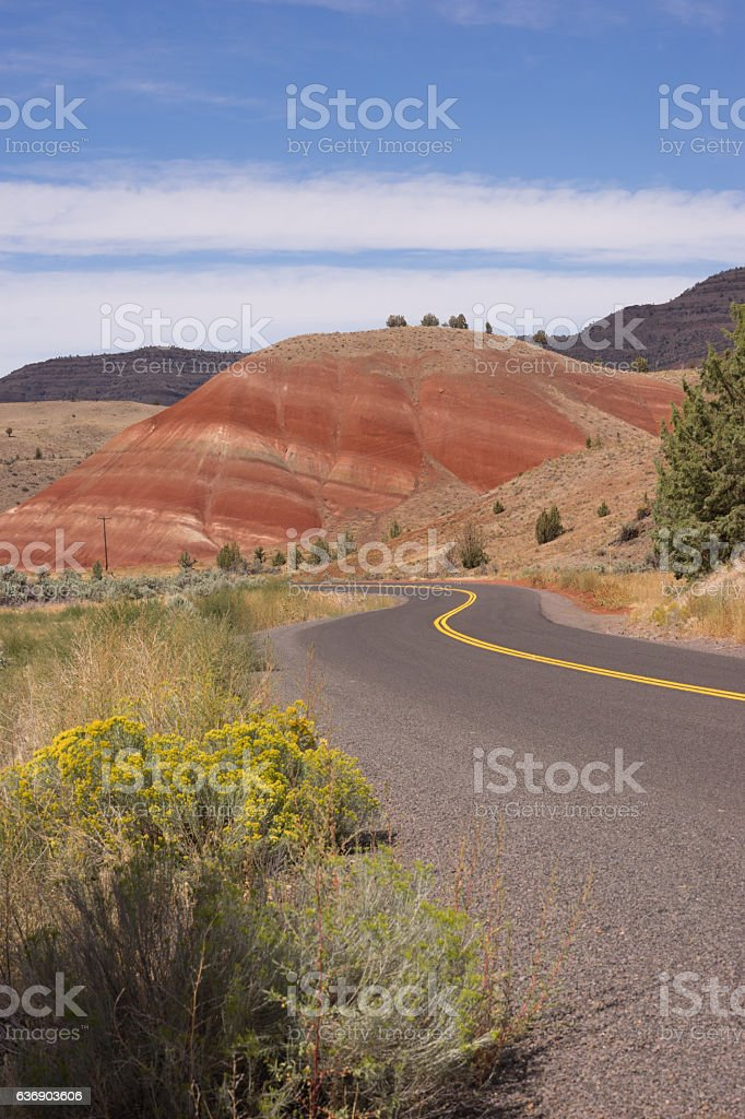 Painted Hills Fossil Beds Oregon State USA North America stock photo