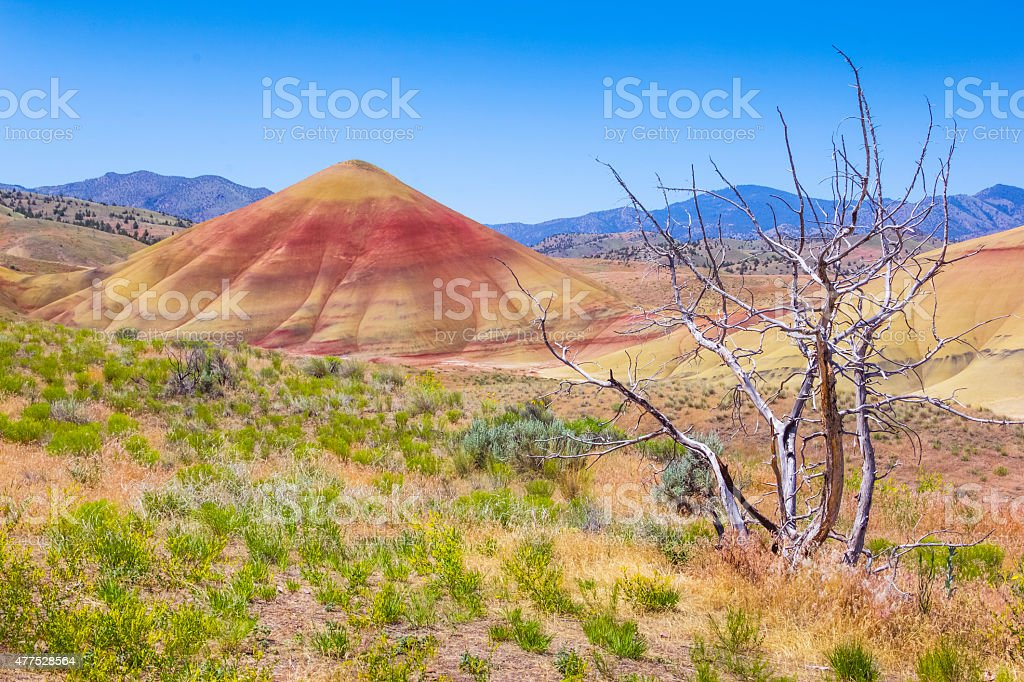 Painted Hills National Landmark, Oregon stock photo