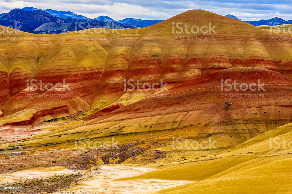 Painted Hills National Monument stock photo