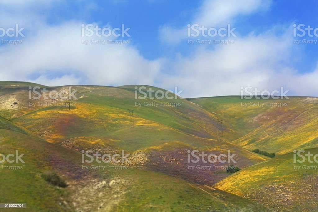 Painted Hills of California stock photo