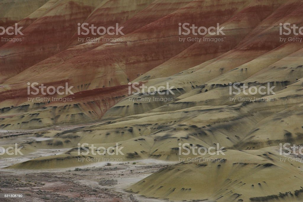 Painted hills of Oregon stock photo