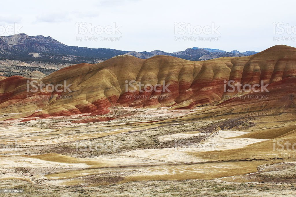Painted Hills, OR royalty-free stock photo