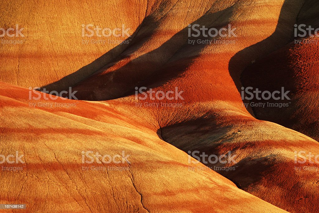 Painted Hills, Oregon royalty-free stock photo