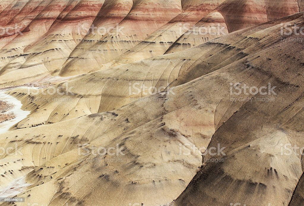 Painted Hills - Oregon stock photo