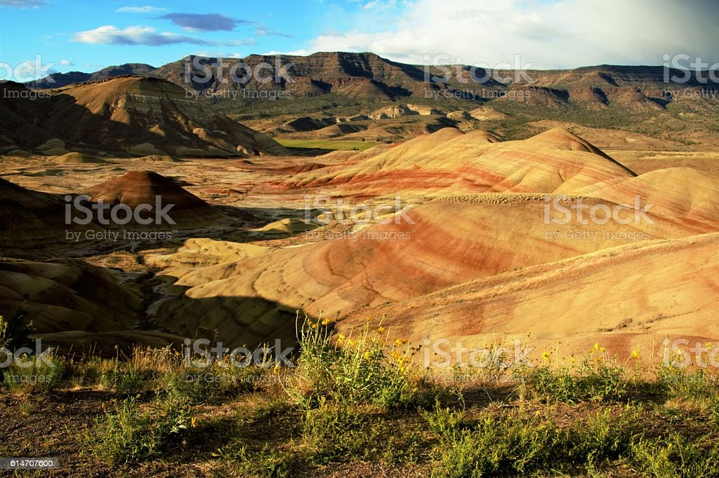Painted Hills, Oregon stock photo