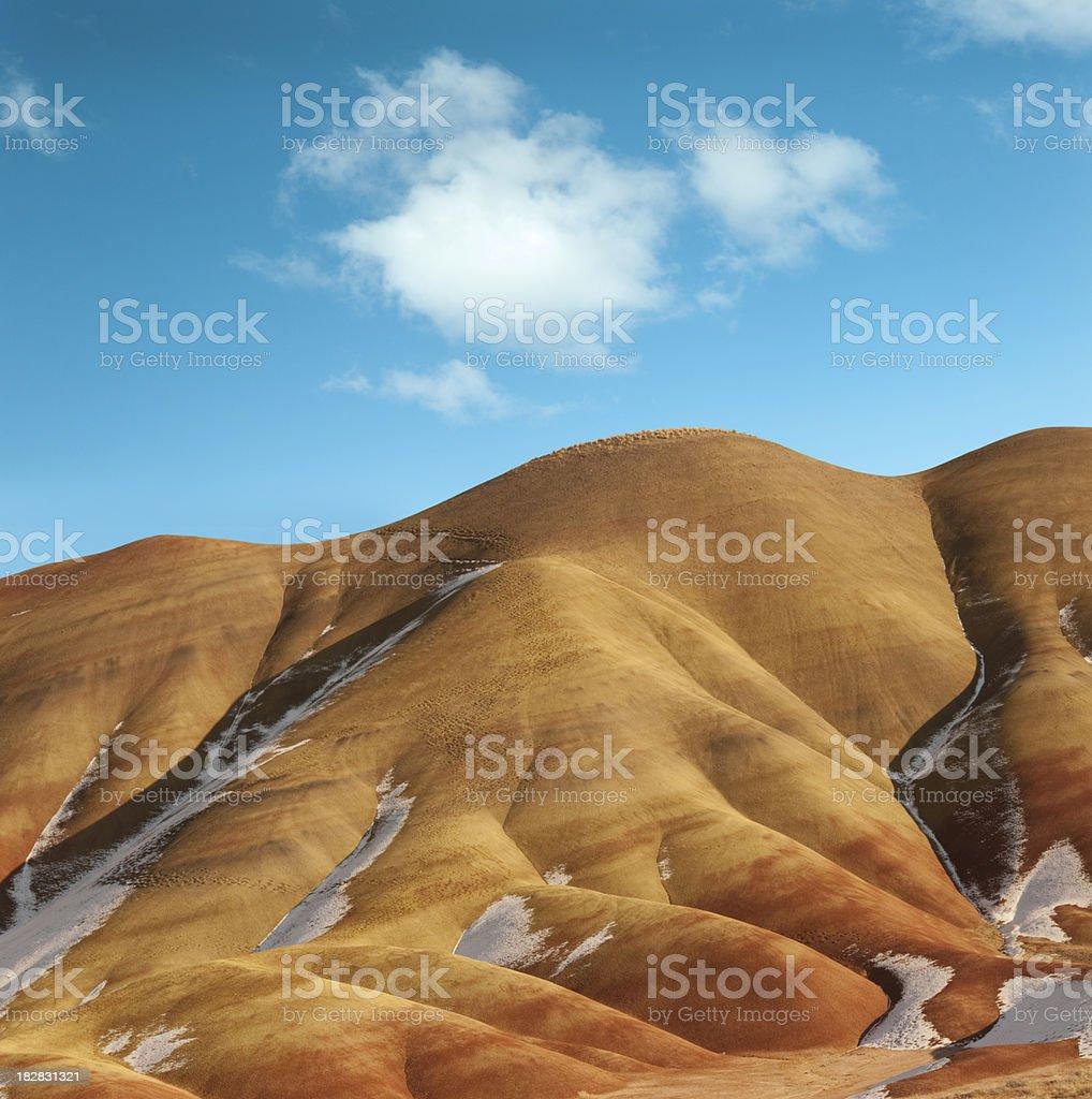 Painted hills, Oregon, USA royalty-free stock photo