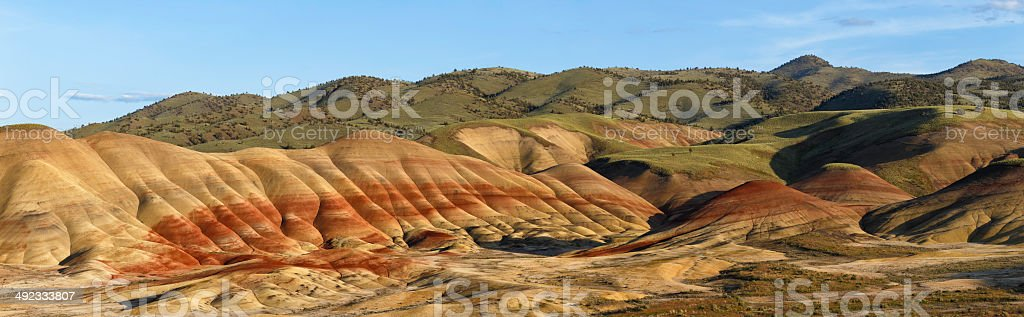 Painted Hills Panorama stock photo
