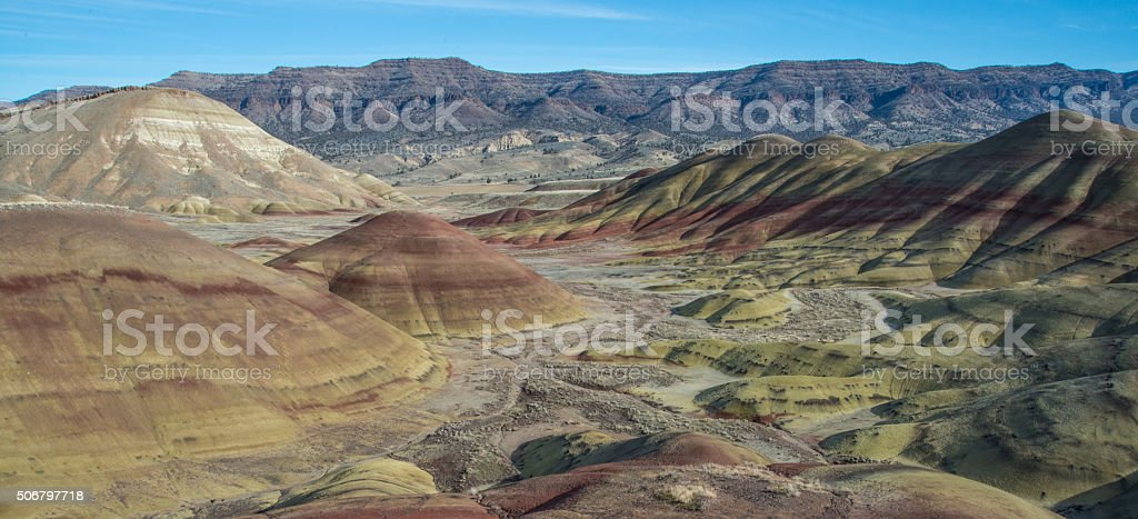 Painted Hills stock photo