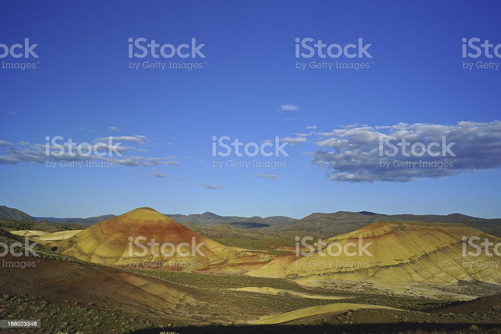 Painted Hills Sunrise stock photo