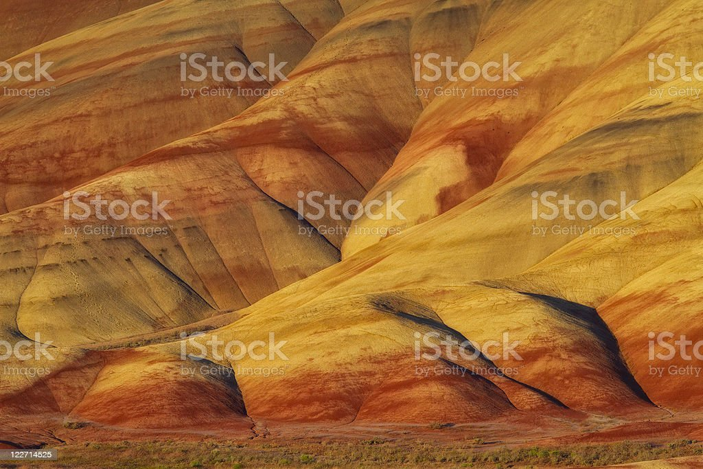 Painted Hills Sunset stock photo