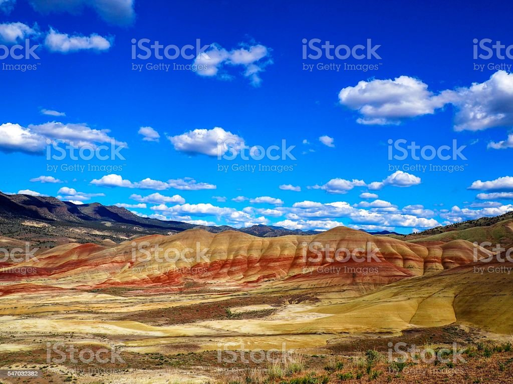 Painted Hills Unit John Day Fossil Beds stock photo
