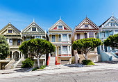 Painted Ladies at Alamo Square in San Francisco California USA