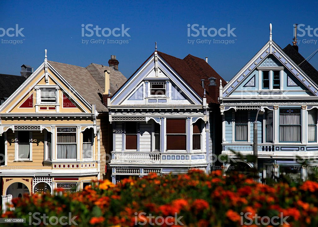 Painted Ladies in San Francisco, USA royalty-free stock photo