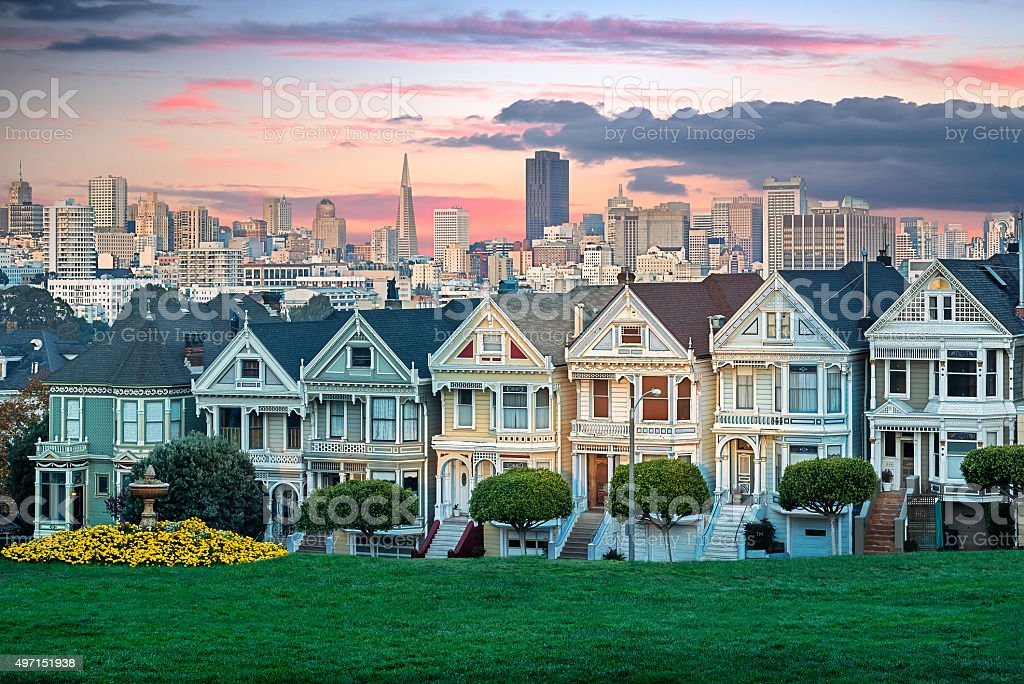 Painted Ladies of San Francisco stock photo