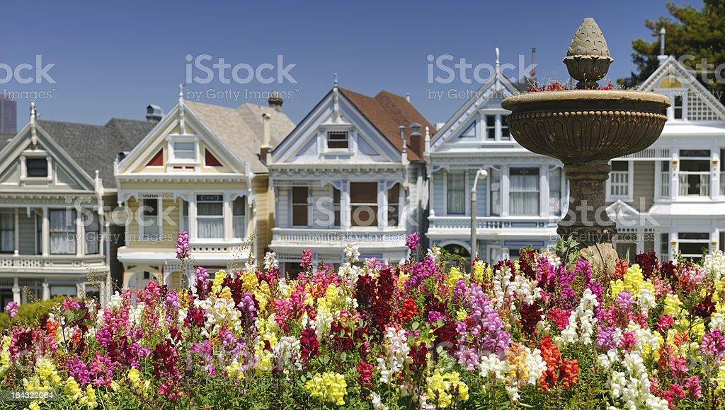 Painted Ladies, San Francisco, California (XXXL) stock photo