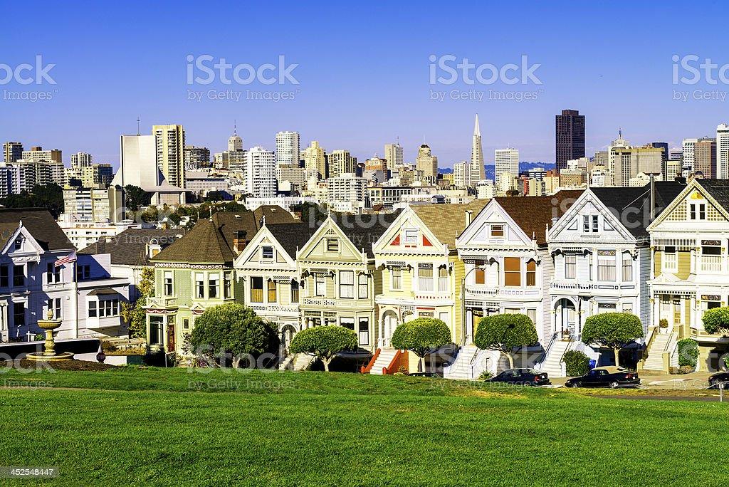 painted ladies San Francisco stock photo
