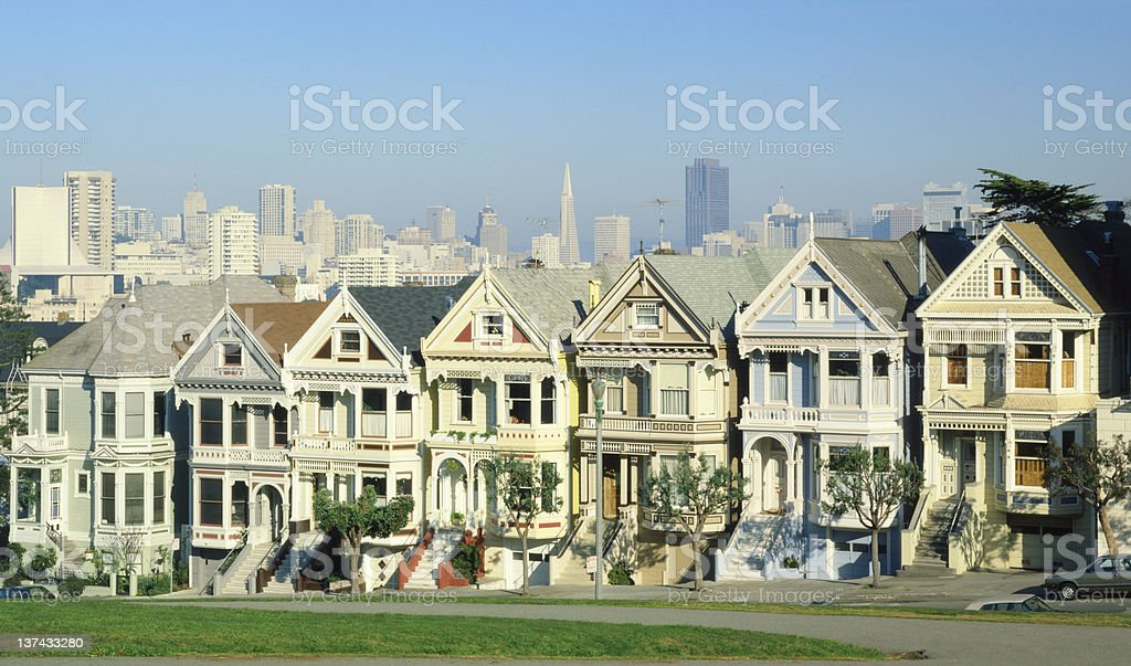 Painted Laidies and San Francisco stock photo