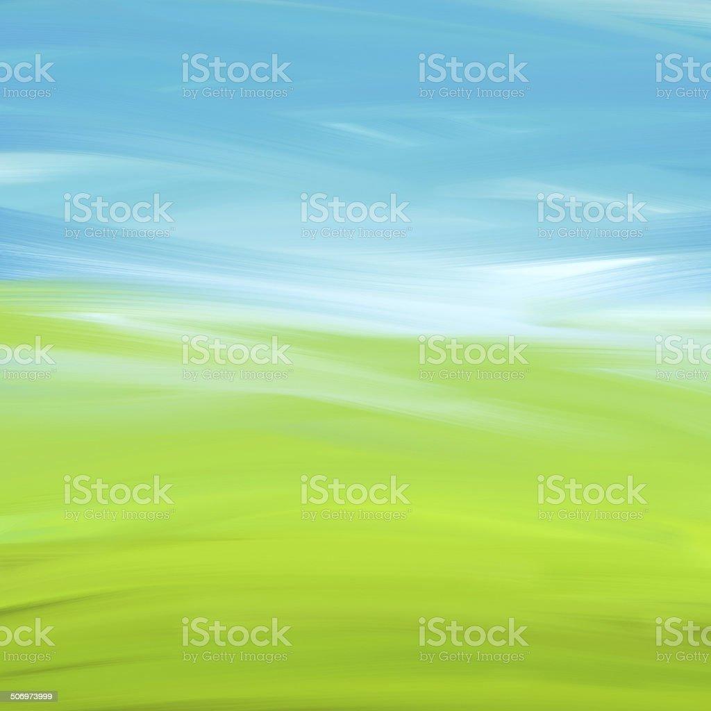 Painted Landscape stock photo