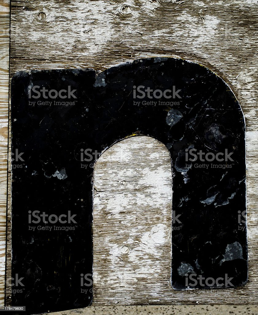 painted letter n stock photo