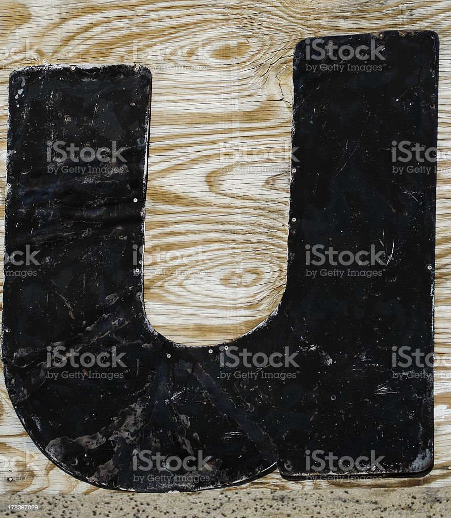 painted letter u stock photo