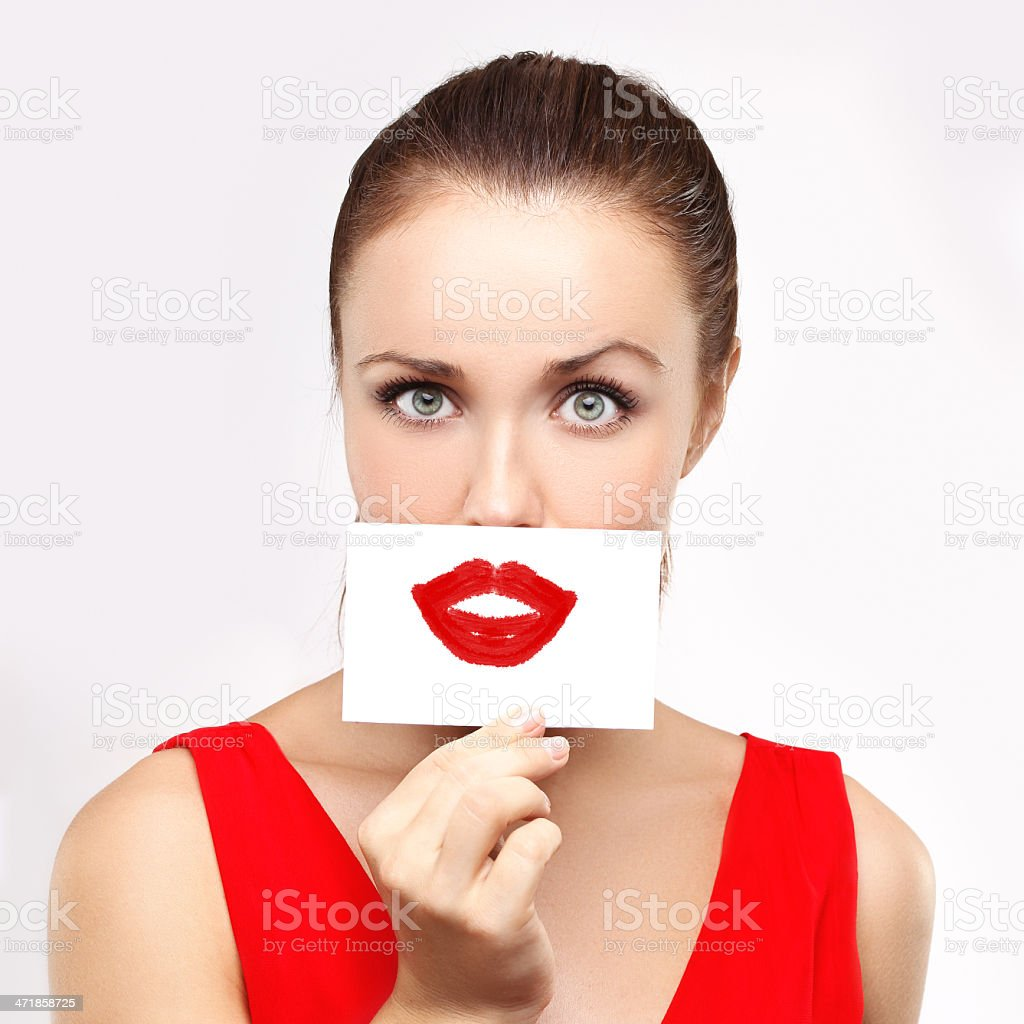 .Painted lips royalty-free stock photo