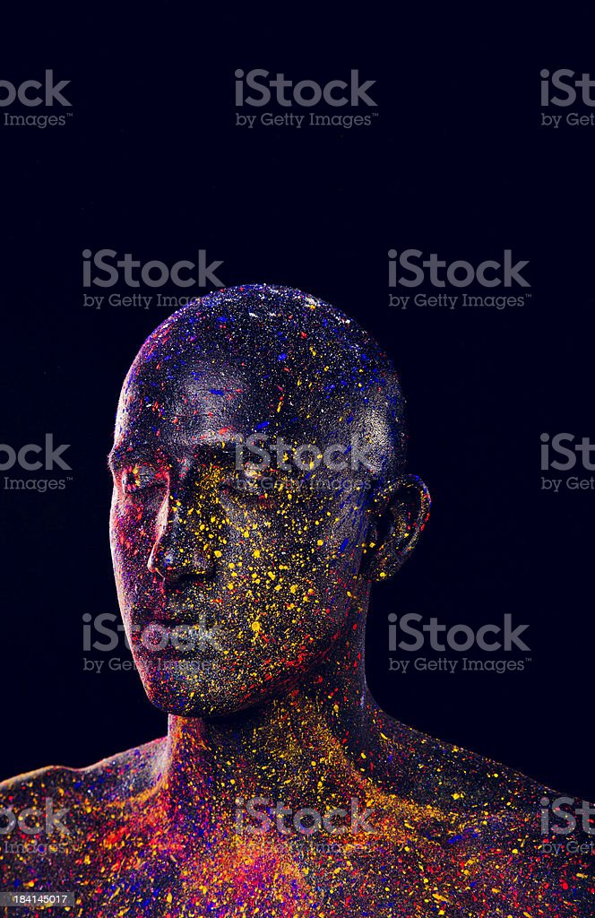 Painted Man royalty-free stock photo