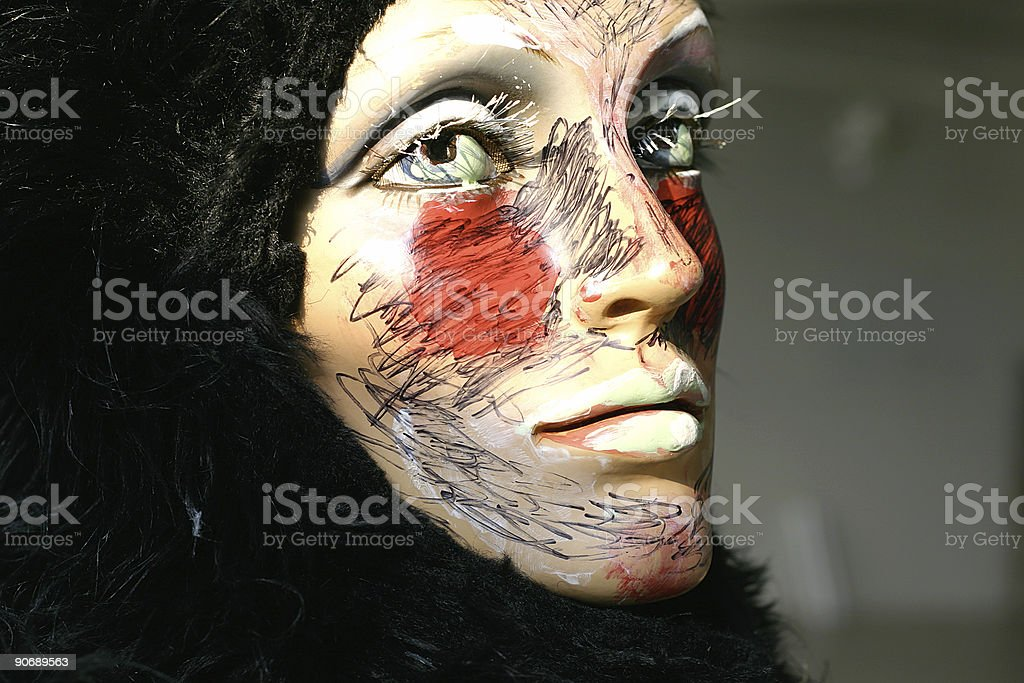 Painted Mannequin stock photo