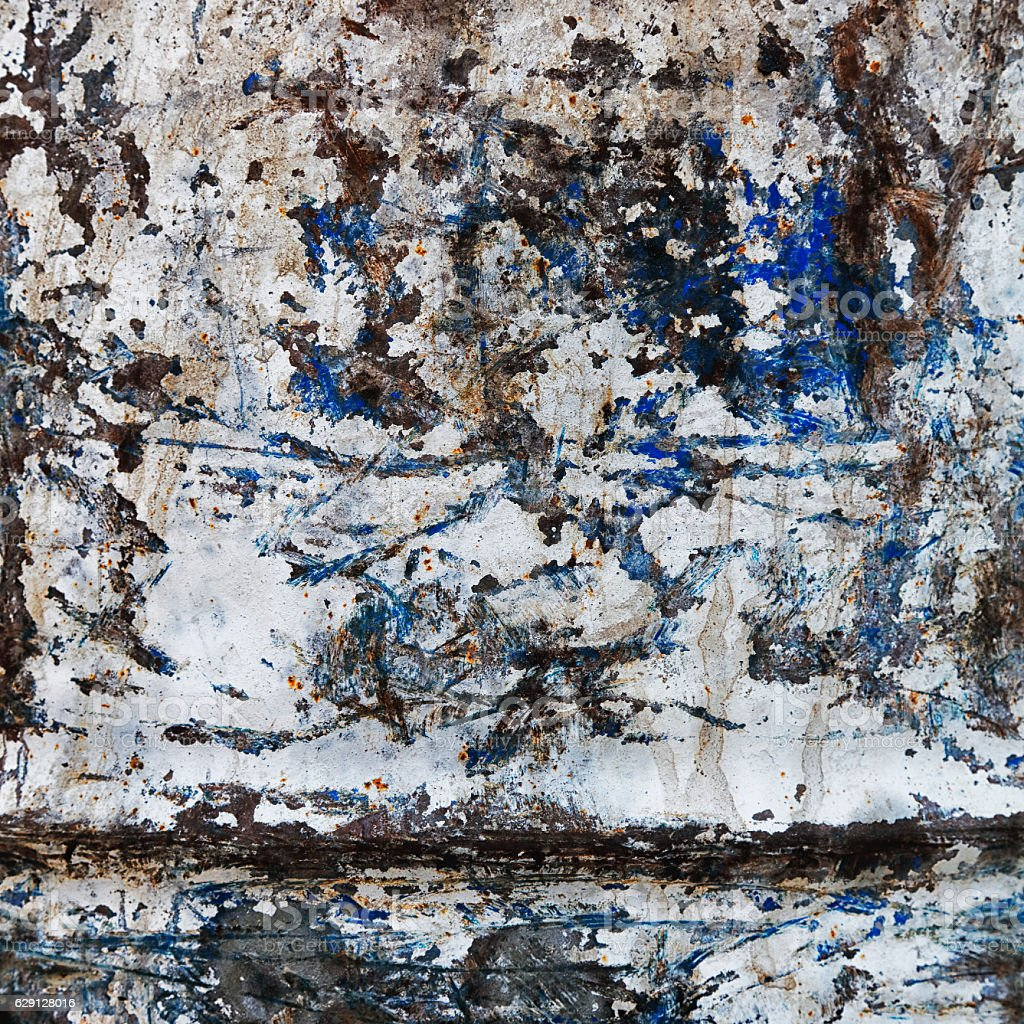 Painted Metal Plate stock photo