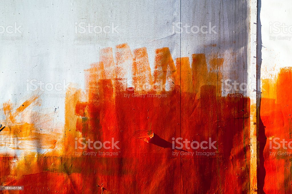 Painted metallic wall royalty-free stock photo