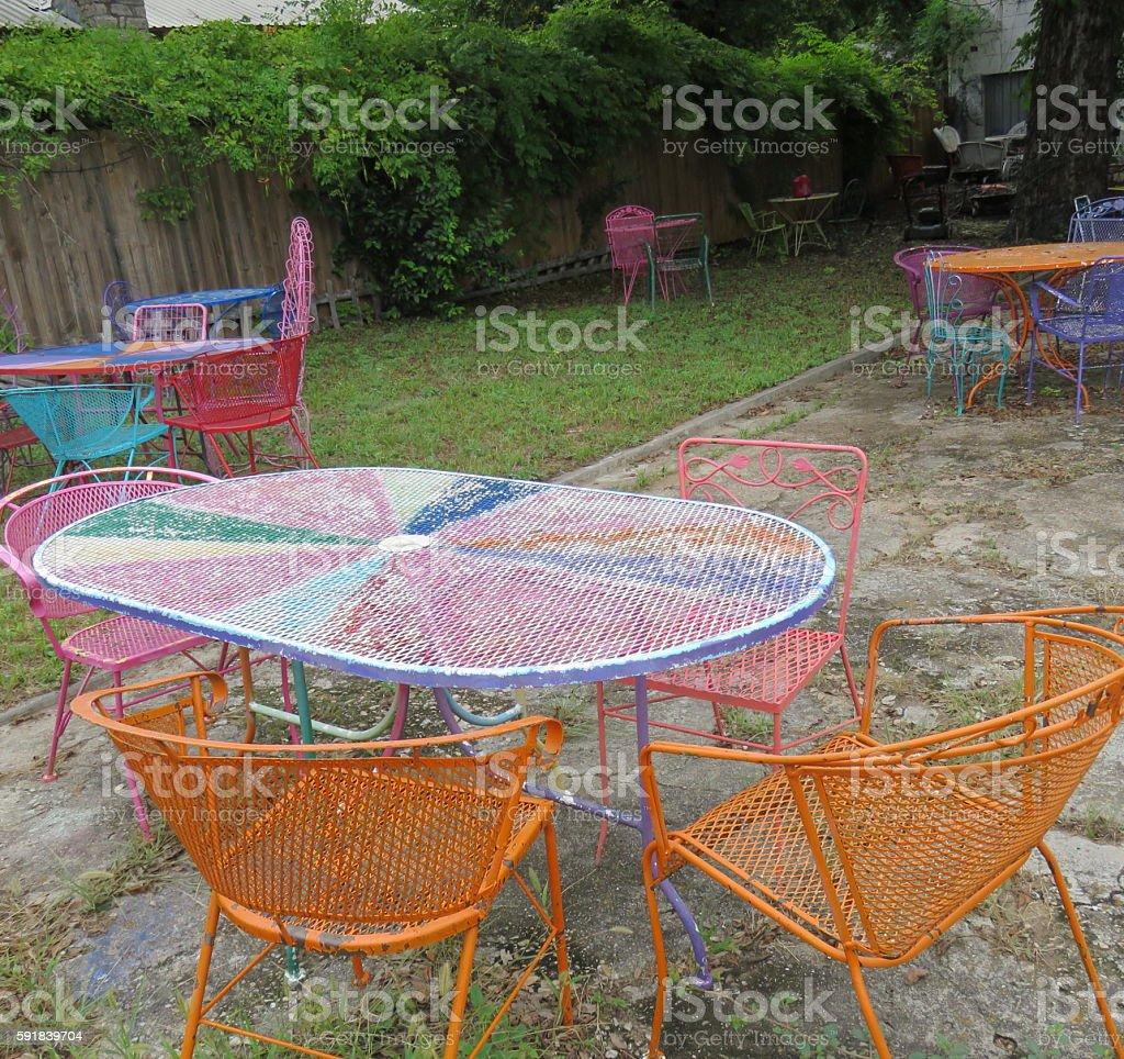 Painted Patio Furniture photo libre de droits
