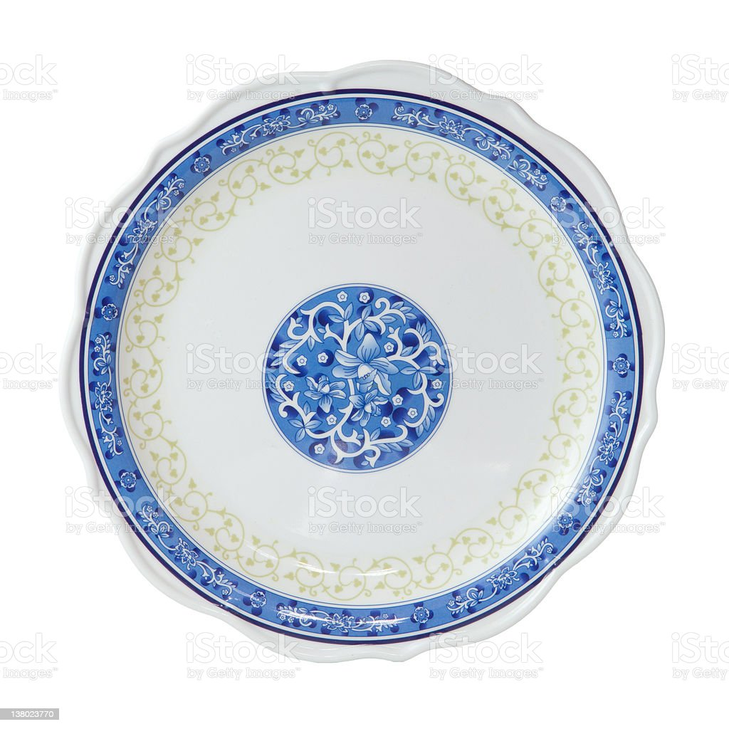 Painted plate isolated royalty-free stock photo