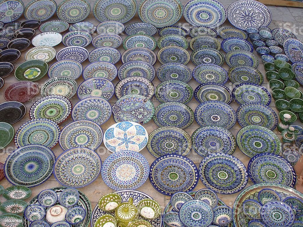 painted plates royalty-free stock photo