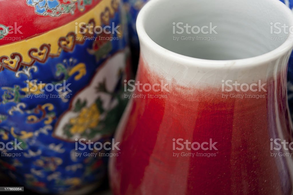 Painted porcelain crafts royalty-free stock photo