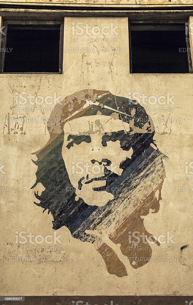 Painted propaganda on the wall of Che Guevara stock photo