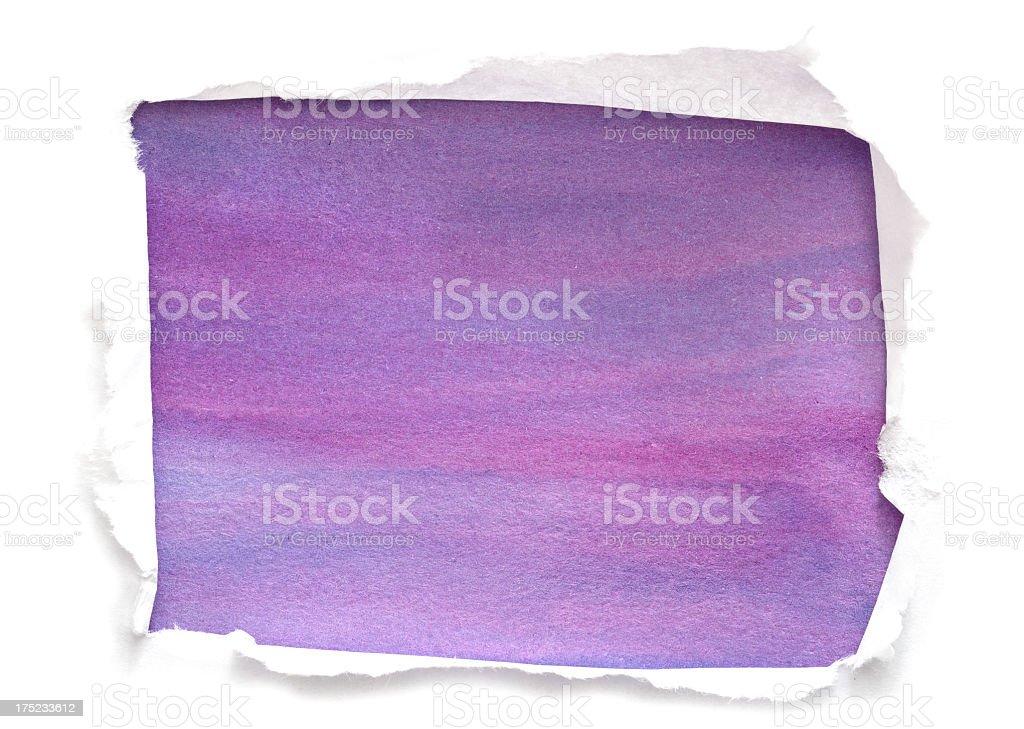 Painted purple watercolor rectangular royalty-free stock photo