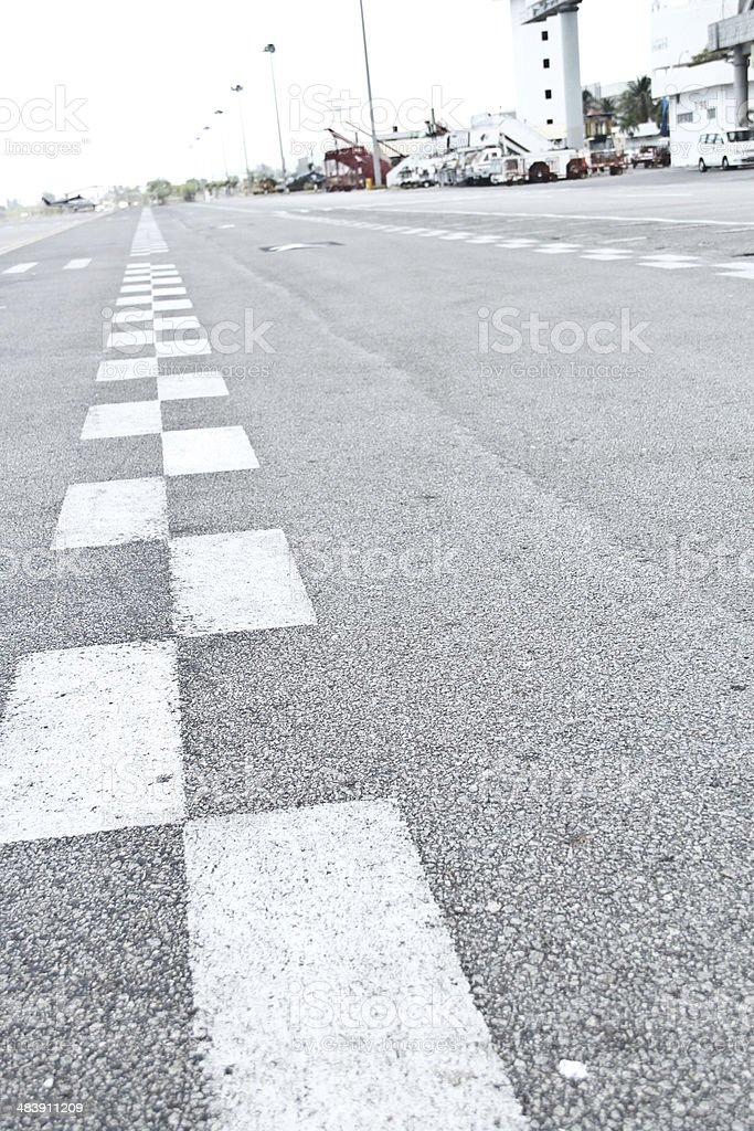 Painted racing line royalty-free stock photo