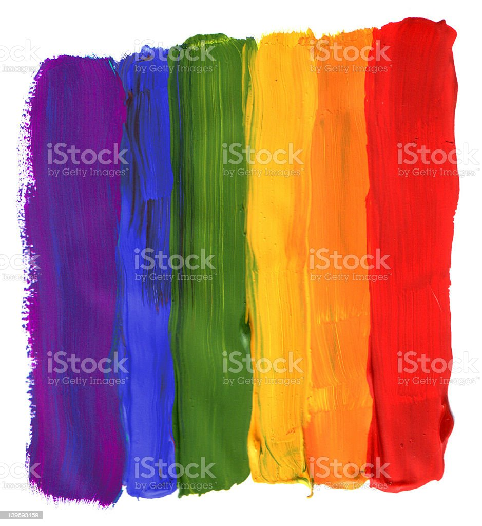painted rainbow stock photo