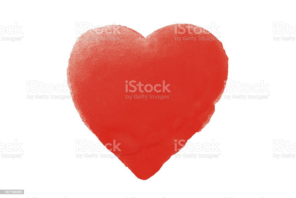 Painted Red Heart royalty-free stock photo