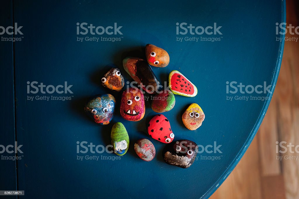 Painted rocks stock photo